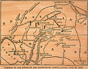 Battle Of Gettysburg, 1863 Print by Granger