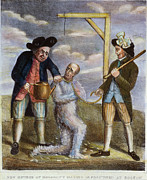 Mob Painting Prints - Tarring & Feathering, 1774 Print by Granger