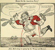 1813 Posters - War Of 1812: Cartoon, 1813 Poster by Granger