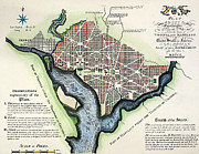 Cities Acrylic Prints - Washington, Dc, Plan, 1792 Acrylic Print by Granger
