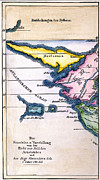 Atlantis: Map, 1831 Print by Granger