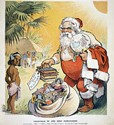 Santa Claus Paintings - Philippine Cartoon, 1902 by Granger