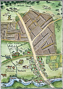 Farm System Painting Prints - Medieval English Manor Print by Granger