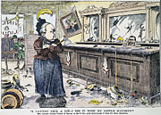 Bartender Framed Prints - Carry Nation Cartoon, 1901 Framed Print by Granger