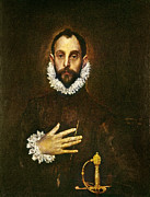 Ruff Painting Metal Prints - El Greco: Gentleman Metal Print by Granger