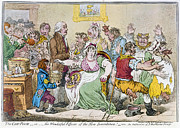 Political Painting Metal Prints - Cartoon: Vaccination, 1802 Metal Print by Granger