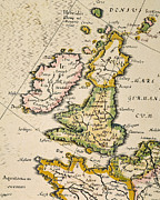 Atlas Paintings - Map Of Great Britain, 1623 by Granger