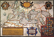 Theatrum Orbis Terrarum Framed Prints - Map Of The Roman Empire Framed Print by Granger