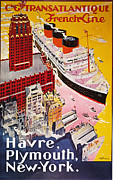 Early Painting Prints - STEAMSHIP POSTER, 1930s Print by Granger
