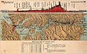 1914 Prints - Card: Panama Canal, 1914 Print by Granger