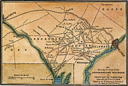 Philadelphia Painting Metal Prints - Underground Railroad Map Metal Print by Granger