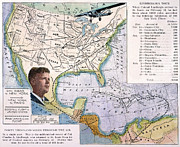 Central America Paintings - Charles Lindbergh by Granger