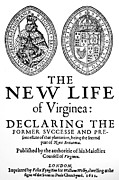 Titlepage Prints - Virginia Tract, 1612 Print by Granger
