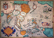 Theatrum Orbis Terrarum Framed Prints - Pacific Ocean/asia, 1595 Framed Print by Granger
