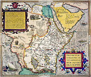 Theatrum Orbis Terrarum Framed Prints - African Map, 1595 Framed Print by Granger