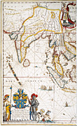 Portolan Chart Painting Posters - South Asia Map, 1662 Poster by Granger