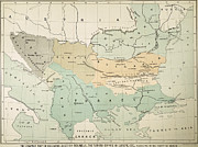 Berlin Paintings - Balkan Map, 1885 by Granger