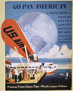 Pan American Framed Prints - Airline Poster, 1933 Framed Print by Granger
