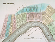 New Orleans Painting Prints - New Orleans Map, 1837 Print by Granger