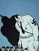 League Painting Prints - Adolf Hitler Cartoon, 1935 Print by Granger