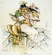 The Tiger Painting Framed Prints - Political Cartoon Framed Print by Granger