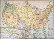 Territory Paintings - Map: U.s. Expansion, 1905 by Granger