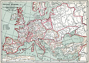 12th Framed Prints - MAP OF EUROPE, 12th CENTURY Framed Print by Granger