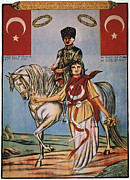 Political Allegory Painting Prints - Republic Of Turkey: Poster Print by Granger