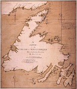 Exploration Paintings - Cook: Newfoundland, 1763 by Granger
