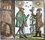 Winemaking Framed Prints - Wine Merchant, 1582 Framed Print by Granger