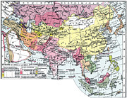 Russia Paintings - Map: Europe In Asia by Granger