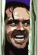 Jack Nicholson Digital Art - 008. Heres Johnny by Tam Hazlewood
