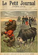 Cartoon  Lion Posters - Boer War Cartoon, 1899 Poster by Granger