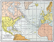 Discovery Paintings - Map: Atlantic Voyages by Granger