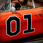 Auction Digital Art Prints - 01 - The General Lee 1969 Dodge Charger Print by Gordon Dean II