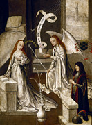 Virgin Mary Paintings - SPAIN: ANNUNCIATION, c1500 by Granger