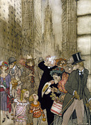 Bradley Paintings - Rackham: City, 1924 by Granger