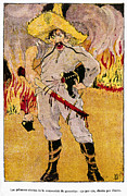 Mexican Revolution Prints - Mexico: Political Cartoon Print by Granger