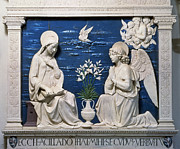 Annunciation Framed Prints - Della Robbia: Annunciation Framed Print by Granger