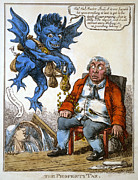 Coins Framed Prints - CARTOON: JOHN BULL, c1814 Framed Print by Granger