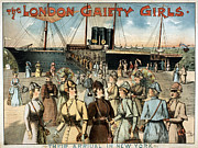 Early Painting Prints - CHORUS GIRLS, c1891 Print by Granger