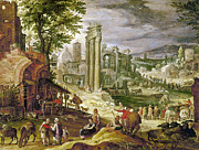 Gathering Framed Prints - Roman Forum, 16th Century Framed Print by Granger