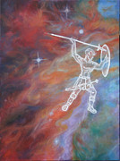 Constellation Paintings - 02 Beyond Orions Belt 01 by Diana Hume