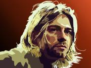 Kurt Cobain Framed Prints - 058. What Else Could I Say Framed Print by Tam Hazlewood
