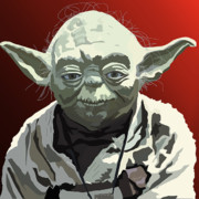 Yoda Framed Prints - 068. Do Or Do Not. There Is No Try Framed Print by Tam Hazlewood