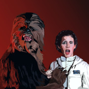 Star Wars Digital Art Posters - 070. Naughty Wookie Poster by Tam Hazlewood