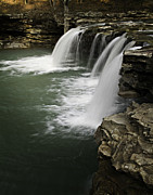Richland Creek Wilderness Prints - 0804-0013 Falling Water Falls 4 Print by Randy Forrester
