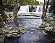 Richland Wilderness Prints - 0804-3327 Falling Water Falls 1 Print by Randy Forrester