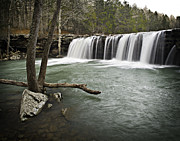 Richland Creek Wilderness Prints - 0805-0070 Falling Water Falls 3 Print by Randy Forrester