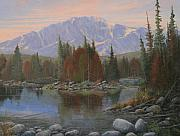 Reflecting Water Paintings - 090506-1418   Colorado Morning by Kenneth Shanika